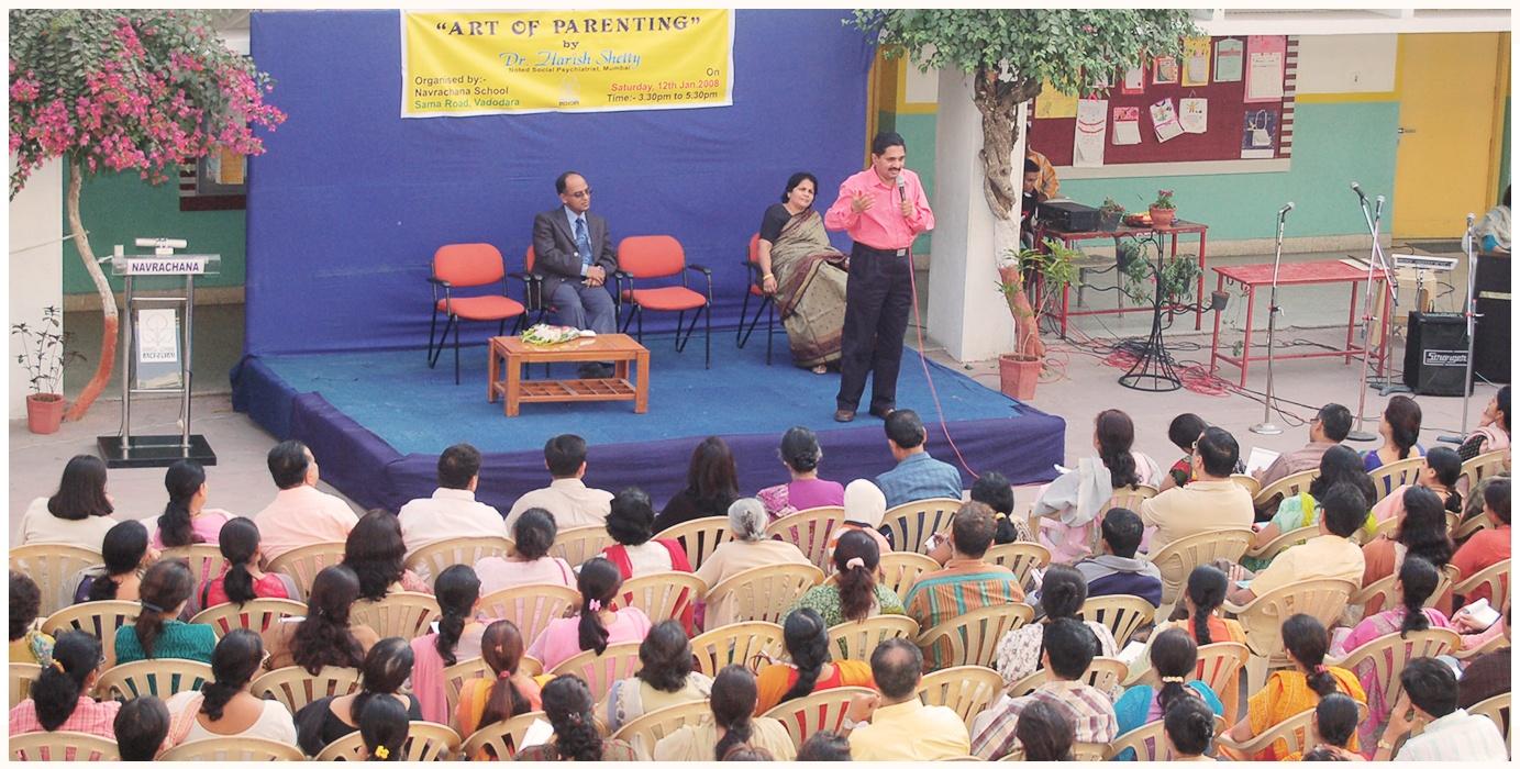 Dr. Harish Shetty Addressing Parents