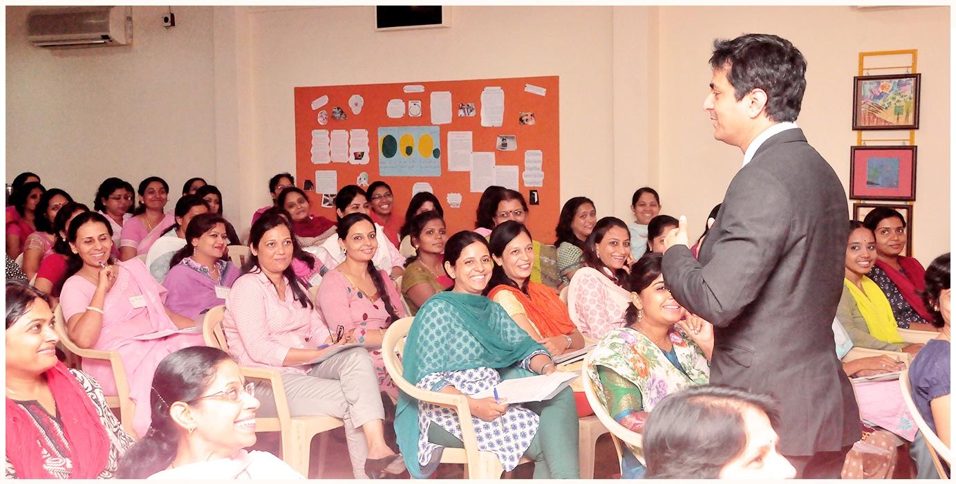 Leading Developmental Pediatrician And Child Rights Expert Dr. Samir Dalwai Conducting Teachers Training Program On Inclusive Education (2012)
