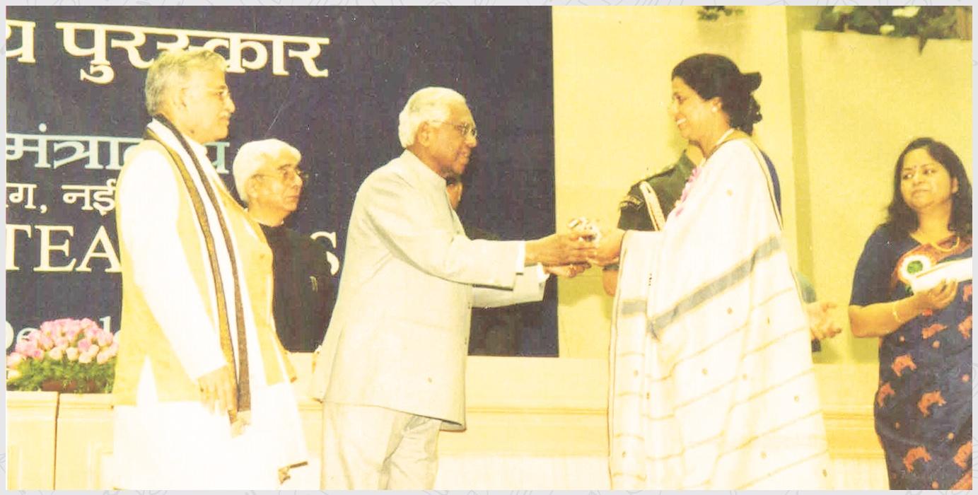 1999 Ex. Principal, Ms Manju Gupta, National Award