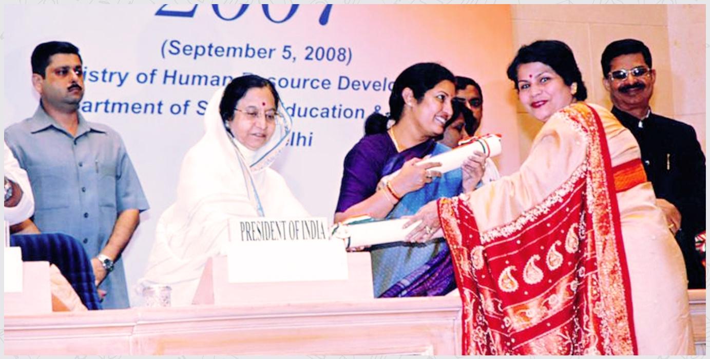 2007-Ex. Principal, Mrs. Bijoya Baksi, CBSE National Award