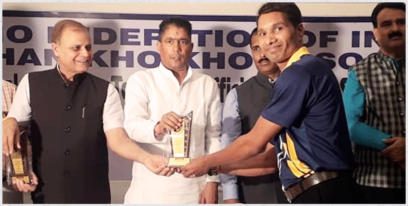 Mr. Shailesh Chunara Awarded by Kho-Kho Federation Of India